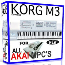 KORG M3 SAMPLES AKAI MPC 2500 5000 4000 2000 1000 4000 3000 500 11 DVD'S 38GB