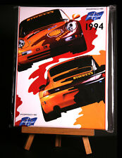 PORSCHE SUPERCUP 1994 RACE POSTER CANVAS PRINT STRETCHED AND FRAMED