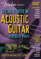 3 HOURS ! ACOUSTIC GUITAR LESSON DVD FENDER *NEW*