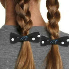 Carolina Panthers 2pk Bow Pigtail Holder