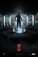 Iron Man 3 Original Advance Zweiseitig Kinofilm Plakat 69x102cm Downey Jr