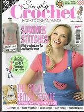 Simply Crochet Issue 59 Summer Stitches Donkey Beach Items Shawl Baby Romper