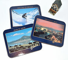 SET OF SIX COASTERS IN BOX WITH IMAGES OF CHILE / New