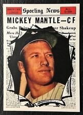 1961 Topps #578 Mickey Mantle Sporting News All-Star Reprint - MINT - Yankees