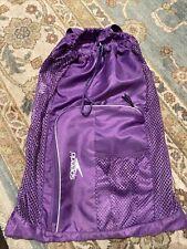 Speedo Mesh Swim Gear Bag Backpack Purple