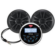 Boss MCKGB350B.6 Receiver/Speaker Package/Bluetooth/MP3/USB/AM/FM Marine Stereo