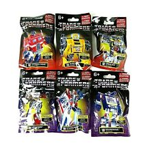 Transformers Complete Set of (6) Mini Figures (3) Autobot & (3) Decepticon