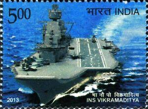 INDIA 2013 INS Vikramaditya Navy Military Ship Navigation Transport stamp 1v MNH