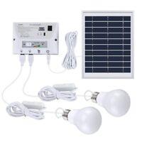 Free shipping Solar Light System Kit  Panel Controller 2 LED Bulbs 3 USB home