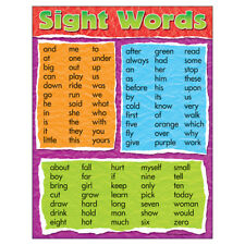Learning Chart Sight Words