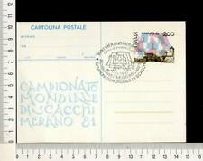 25530) ITALIA 1.10.1981 PC (special postmark)  Chess - Scacchi