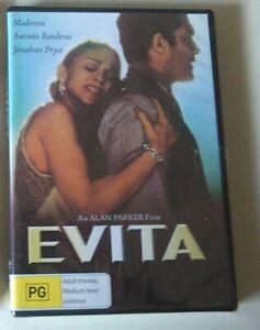 EVITA dvd RARE OOP madonna REGION 4 musical 1996 antonio banderas NEW SEALED