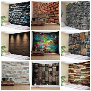 Colorful Brick Tapestry Wall Hanging Psychedelic Stone Tapestries Throws Decor