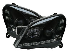 black color finish LED DRL lights Headlight SET for OPEL ASTRA H TwinTop