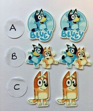 BB BLUEY CHARACTER FLATBACKS - pk of 6  select design perfect for ribbon bows
