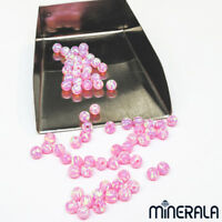 [WHOLESALE] SYNTHETIC OPAL ROUND BEADS LOOSE VARIOUS SIZES LIGHT PINK FULL DRILL