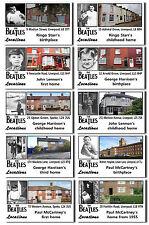 BEATLES - THEN & NOW FAMOUS LOCATIONS - POSTCARDS SET # 1