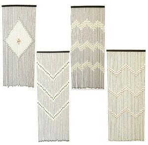 Wooden Beaded Bamboo Door Curtain Summer Blind Fly Mosquito BugScreen 180 X 90CM