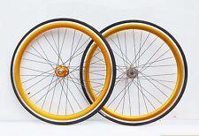 NOLOGO GOLD Single Speed wheelsets Fixed Fixie 700c flip-flop hub Wheelsets b