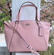 NWT Authentic Coach Pebble Leather Mini Kelsey Blush Pink Crossbody 27596 $250