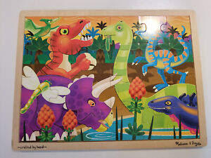 Melissa and Doug Puzzle - Prehistoric Sunset (24 Piece Wooden Jigsaw Tray Puzzle