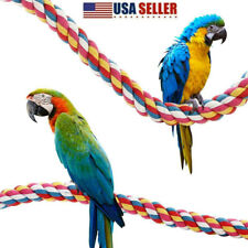 Pet Bird Cotton Rope Cage Accessories Comfy Perch Multicolor Parrot Bungee Toys