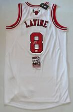 Zach LaVine signed White Chicago Bulls Adidas Authentic jersey JSA