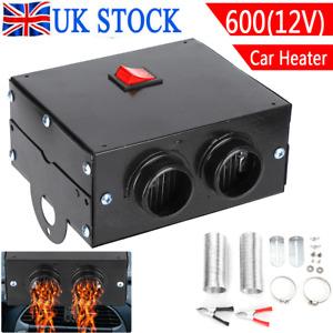 12V 600W Electric Car Heater DC Ceramic Heating Fan Defogger Defroster Demister