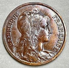 Key Date 1921 France 10 Centimes Toned- High Grade- Item161