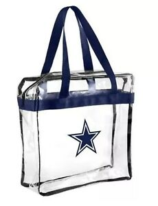 NFL Dallas Cowboys Clear Zipper Tote Bag Stadium Approved