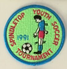 Spindletop 1991 Youth Soccer Tournament Patch 3 in dia #2914