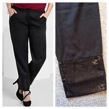 """Sheego @ Curvissa Size 20 £54 Black Sequin Cuff TROUSERS 29.5"""" IL Holiday Party"""