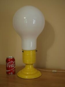 Vintage 60's LIGHT BULB Table Lamp Pop Art Mid Century Modern INDUSTRIAL