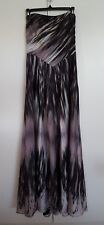 TED BAKER WOMEN'S STRAPLESS MAXI DRESS GOWN MULTI COLOR WATER COLOR PRINT 2