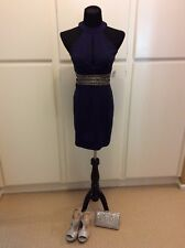 Women WINDSOR Homecoming/Prom/Formal Navy and Rhinestone cocktail dress SIZE 7