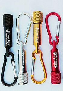 WA Lizard Mini LED Carabiner Torch Flashlight Camping Hiking Tool Solid metal