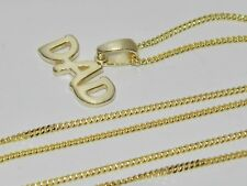 "9ct Gold on Sterling Silver ""DAD"" Pendant & 20 inch Chain"