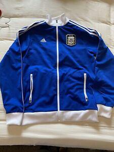 Men's Adidas Argentina Full Zip Soccer Track Jacket Medium