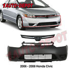 Front Bumper Cover Grille Kit For 2006-2008 Honda Civic 2-door Coupe
