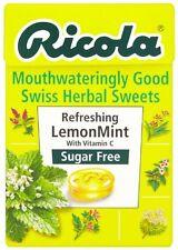 Ricola Lemon Mint Sugar Free Swiss Herb Drops 45 g Box (Pack of TWO)