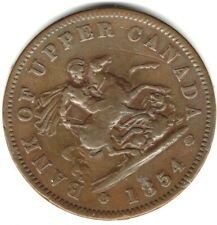 (Pgasteelers 1) Canada Province 1854 BR#719 One Penny copper St.George & Dragon