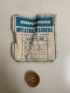"Genuine NOS Vintage Bluemels 1"" Inflator Pump Leather Washer New Old Stock"