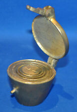 A set of antique apothecary nesting weights, hatbox weights, 19th century, brass