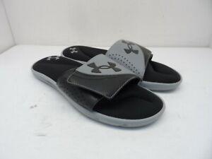 Under Armour Men's Ignite Slide Sandal Grey/Black Size 12M