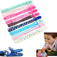4 Pacifier Chain Clip Holder Soother Leash Strap Baby Kid Nursing Teether Straps