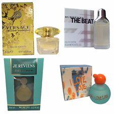 Womens Miniature Mini Travel Perfume x4 Worth Versace Burberry Moschino