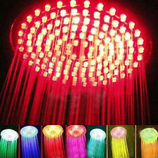 """8"""" inch RGB LED Light Round Stainless Steel Rain Shower Heads US"""