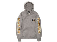 BNWT UNDEFEATED UNDFTD NEIGHBORHOOD ALPHA DOGS ZIP HOODY JACKET GRAY MEDIUM