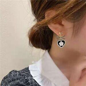Creative Ear Jewelry Women Stud Earrings Korean Dangle Earrings Camellia Flower