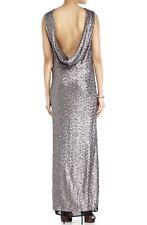 Peachoo + Krejberg Size S Women's Metallic Sequin Maxi Dress NEW $1550.00